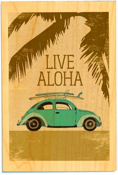Birchwood Postcards | Live Aloha Bug