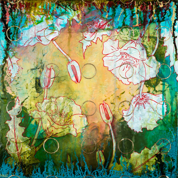 Circles (Poppies), a fine art print by Heather Robinson