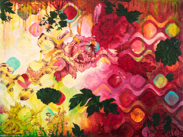Ogee Rose Garden, a fine art print by Heather Robinson