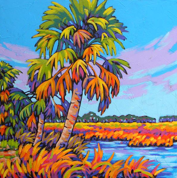 Palm Dances on the Marsh