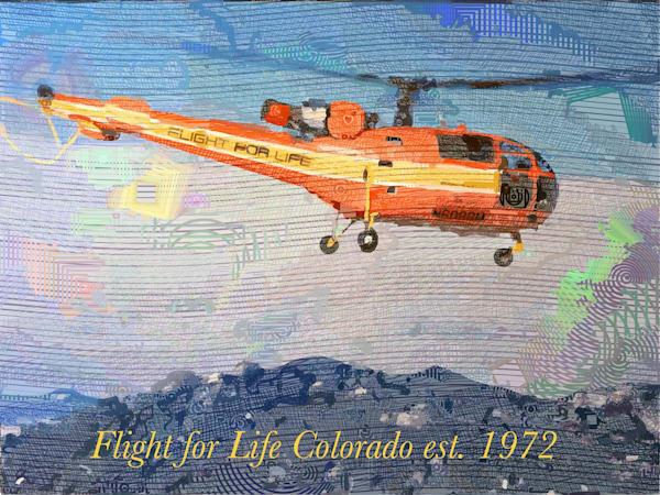 Flight For Life Vintage 1972    Original Art | Werlin Design Group, LLC dba Brilliance Gallery