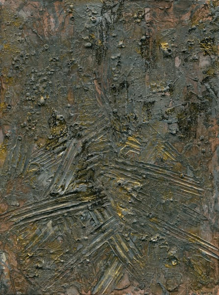 A textured abstract reminiscent of old, crystalline stone.