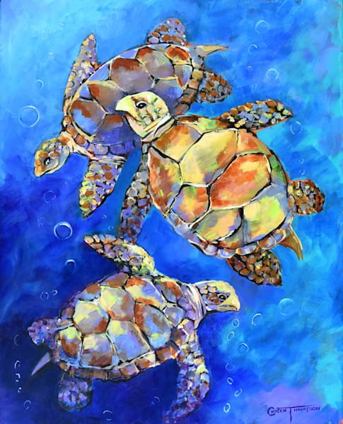 my three turtles