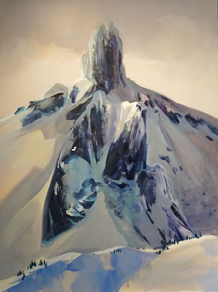 Acrylic painting of Black Tusk Mountain in Garibaldi Provincial Park, BC