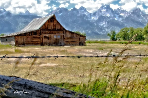Fenced Moulton Barn Photography Art | Images2Impact