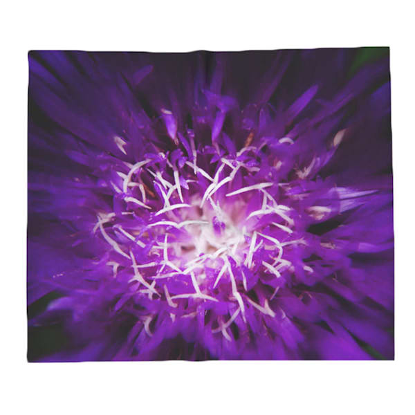 Abstract Flower Decorative Throw Blanket