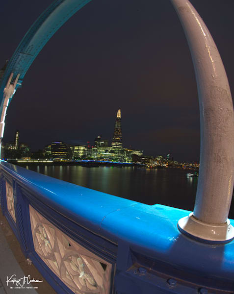 The Shard framed by Tower Bridge