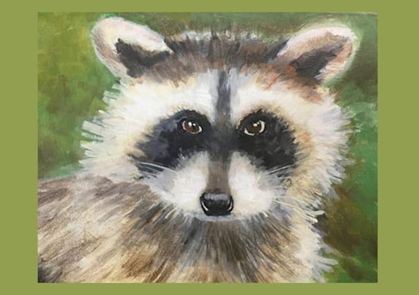 Raccoon Smile Card