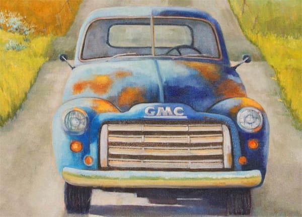 Rusty Blue GMC Card