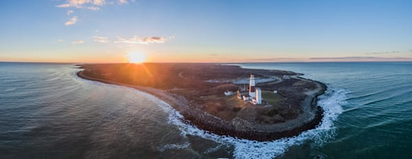 BEST Montuak Lighthouse Aerial Panoramic Picture with Drone by Steven Archdeacon (BEST SELLER).