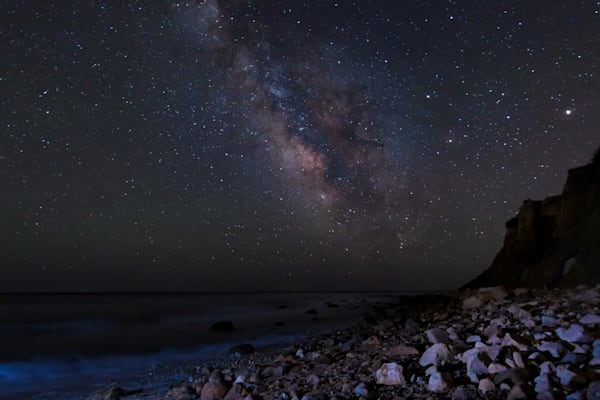 Milky Way on Beach in Montauk, NY by Steven Archdeacon.