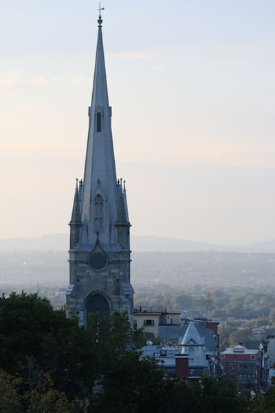 Quebec City Canada church by Steven Archdeacon.