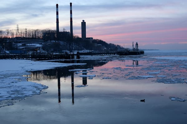 Nature and Landscape Photograph of Port Jefferson Harbor by Steven Archdeacon.