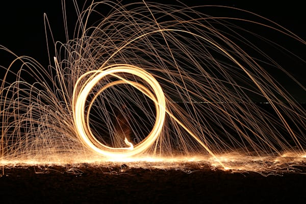 Steel Wool Light Painting Photograph by Steven Archdeacon