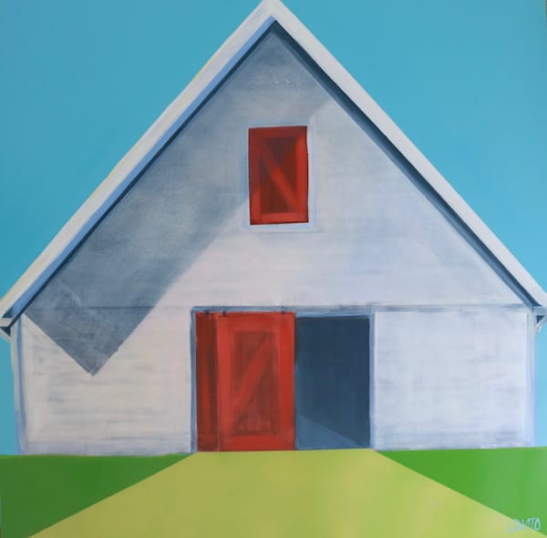 shop lesli devito original paintings white barn with red door