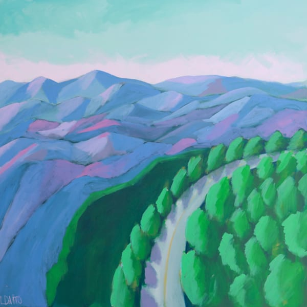 lesli devito original painting print of skyline drive