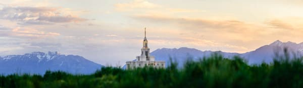 Panorama of Payson Temple and the Mountains