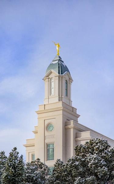 Cedar City Temple - Reaching up