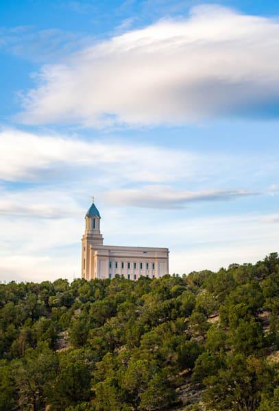 Cedar City Temple - Trees and Skies
