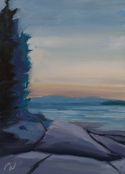Swan's Island Sunset painting by Paul William | Fine Art for Sale