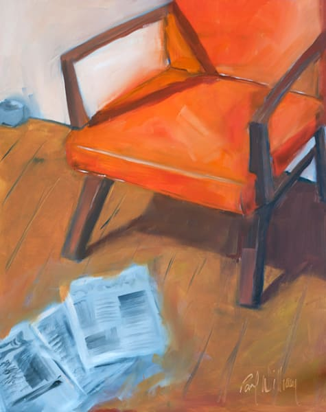 Orange Chair painting by Paul William | Fine Art for Sale