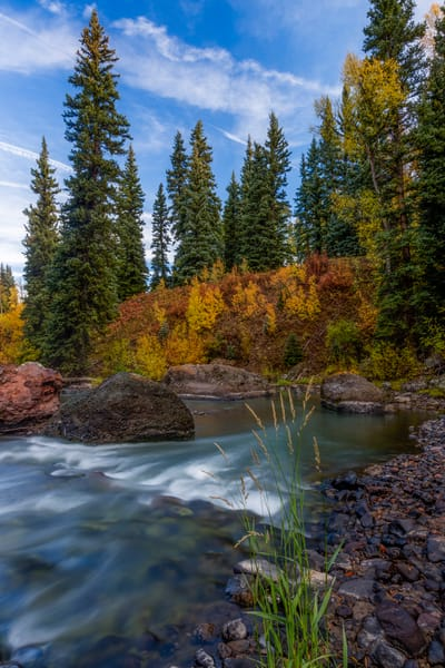 Peaceful Autumn River fine art photograph for sale as fine art by Mike Jensen