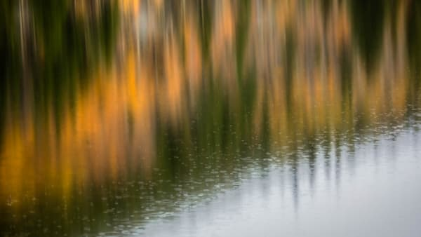 Bear Lake Abstract Reflection In The Rain fine art photograph by Mike Jensen