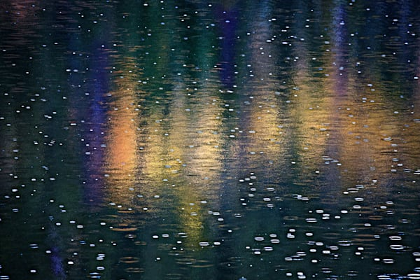 Autumn's Rainy Reflection fine art photograph by Mike Jensen