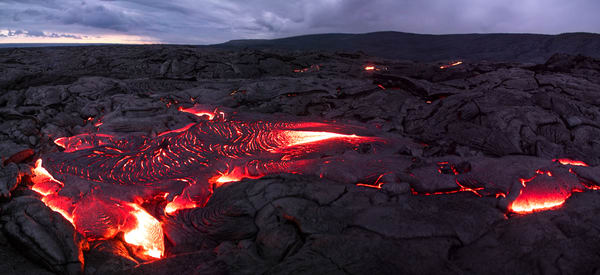 Creation - Hawaii Lava Panoramic Print