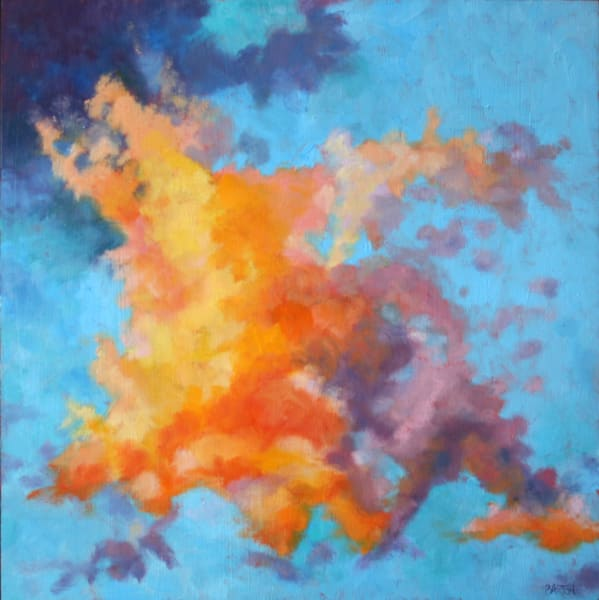 orange, purple, cloud