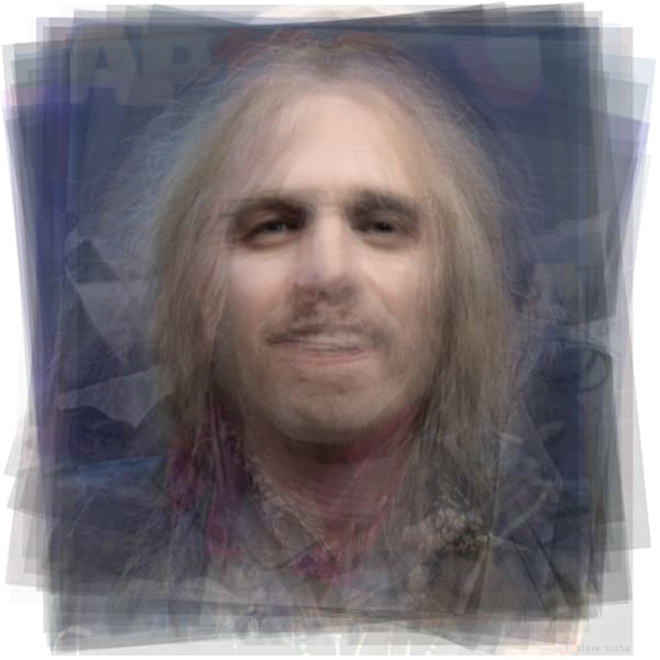Overlay art – contemporary fine art prints of Tom Petty.