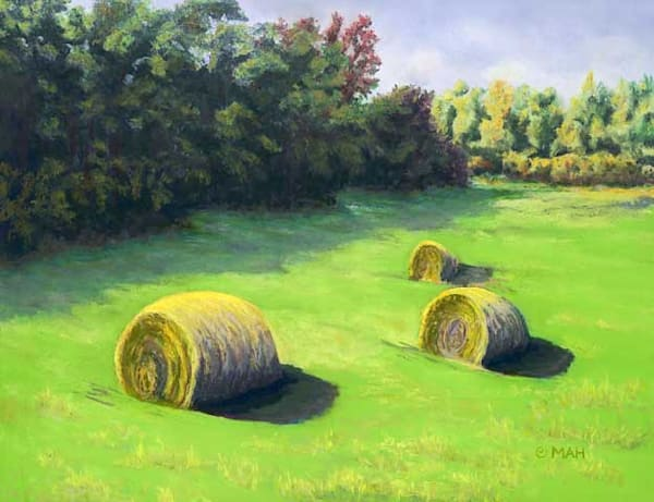 Morning Hay print by Mary Anne Hill.