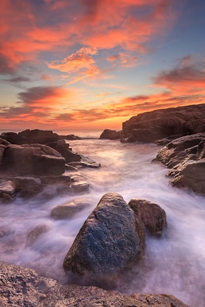 """Hazard Rocks October Sunrise"" Narragansett Rhode Island Seascape Photo"