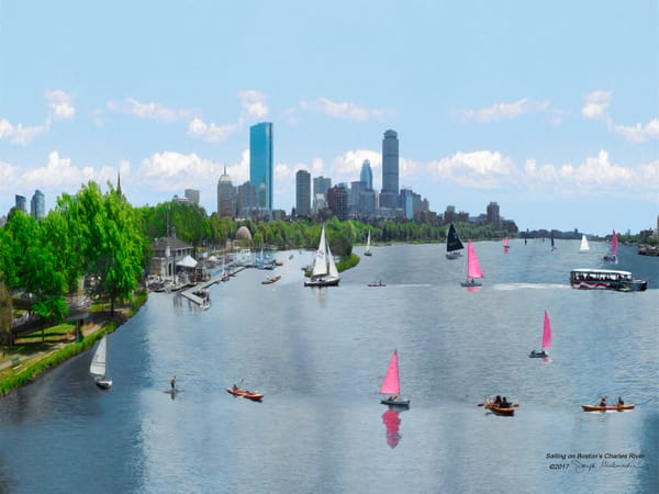 Charles River Art Print on Canvas - The Gallery Wrap Store