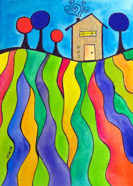 House On The Hill Three Art For Sale