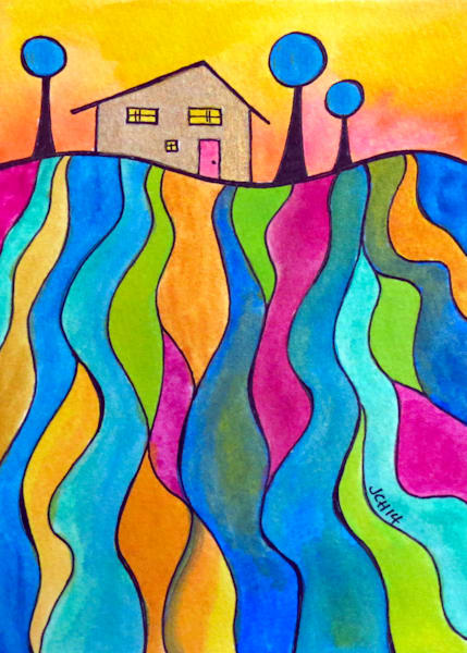 House On The Hill Four Art For Sale