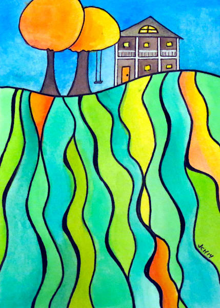 House On The Hill Five Art For Sale