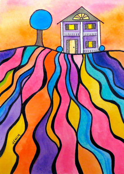 Landscape Paintings and Drawings by Groovy Gal Designs