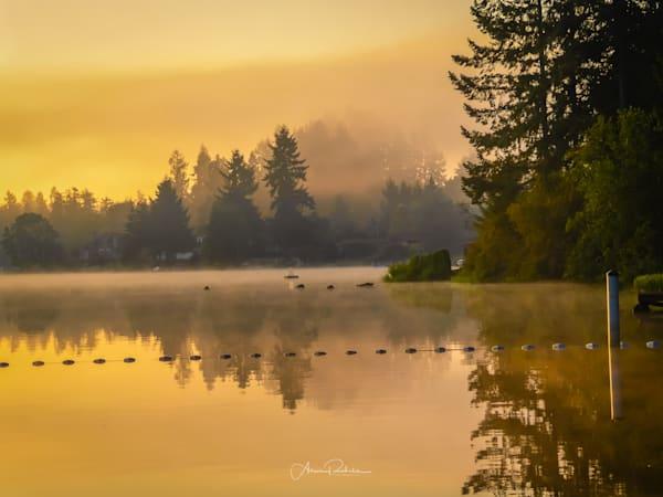 Long Lake foggy sunrise