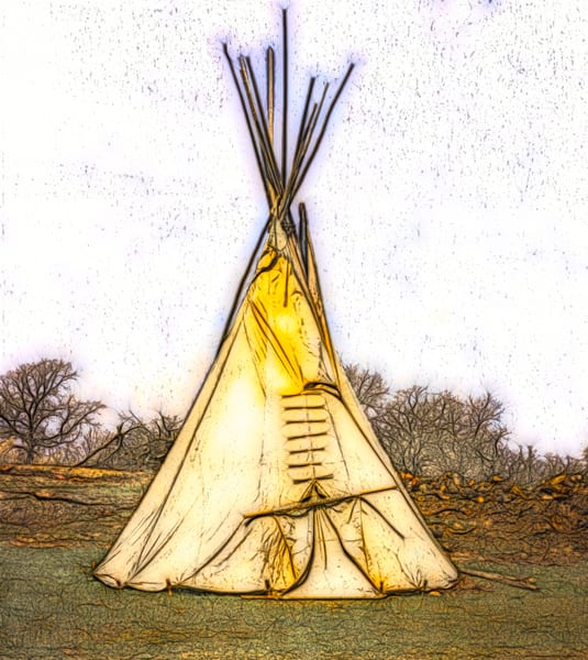 Art Photograph Native American Tipi fleblanc
