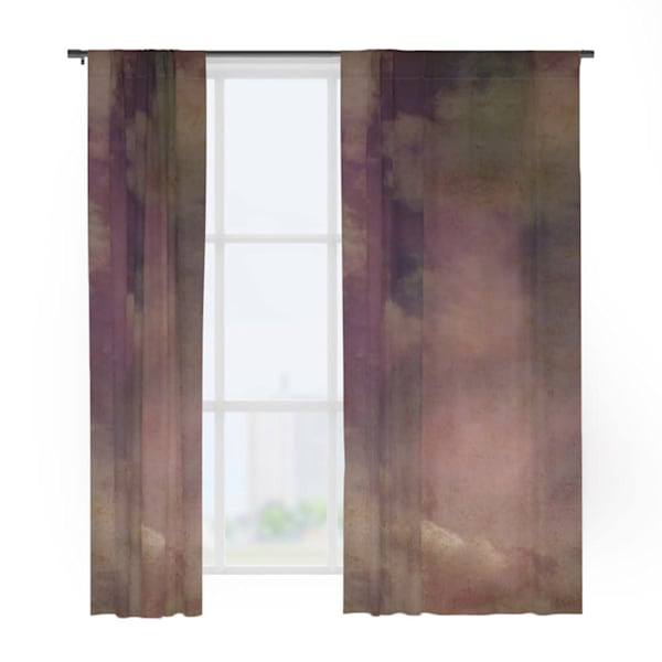 Abstract Clouds Window Curtains
