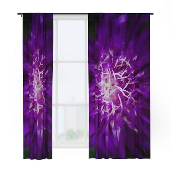 Abstract Flower Window Curtains
