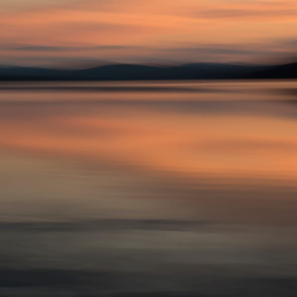 The View from Shore 10, sunset on a lake for sale as fine art photograph.