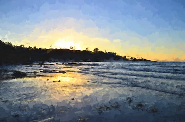 Monet Sunset at La Jolla Shores