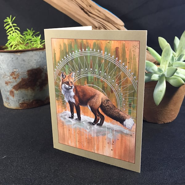 "Greeting Card of ""Red Fox"" by Steven Teller"