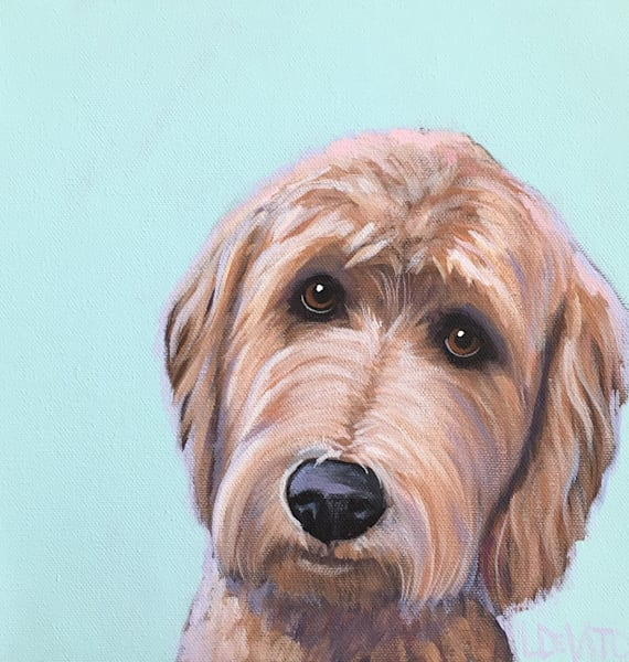 lesli devito original custom pet portraits 12 x 12