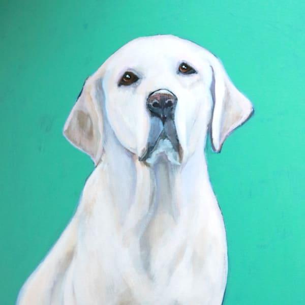 lesli devito custom pet portrait dogs cats original aqua