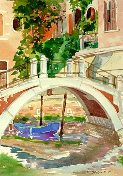 Rio San Bernaba, Venice | Watercolor Landscapes | Gordon Meggison IV