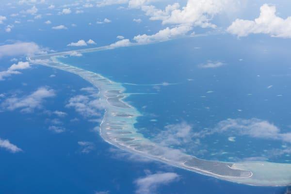 Arutua Atoll Aerial, French Polynesia