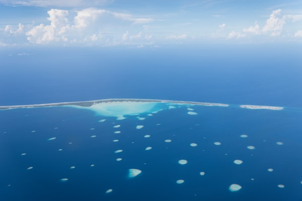 Toau Atoll Aerial, French Polynesia